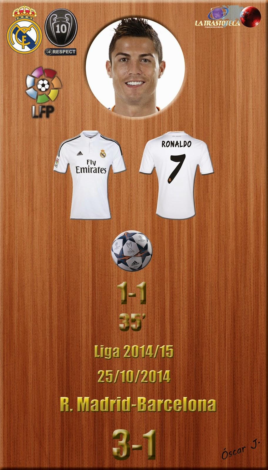 Cristiano Ronaldo - (1-1) - Real Madrid 3-1 Barcelona - Liga 2014/15 - (25/10/2014)