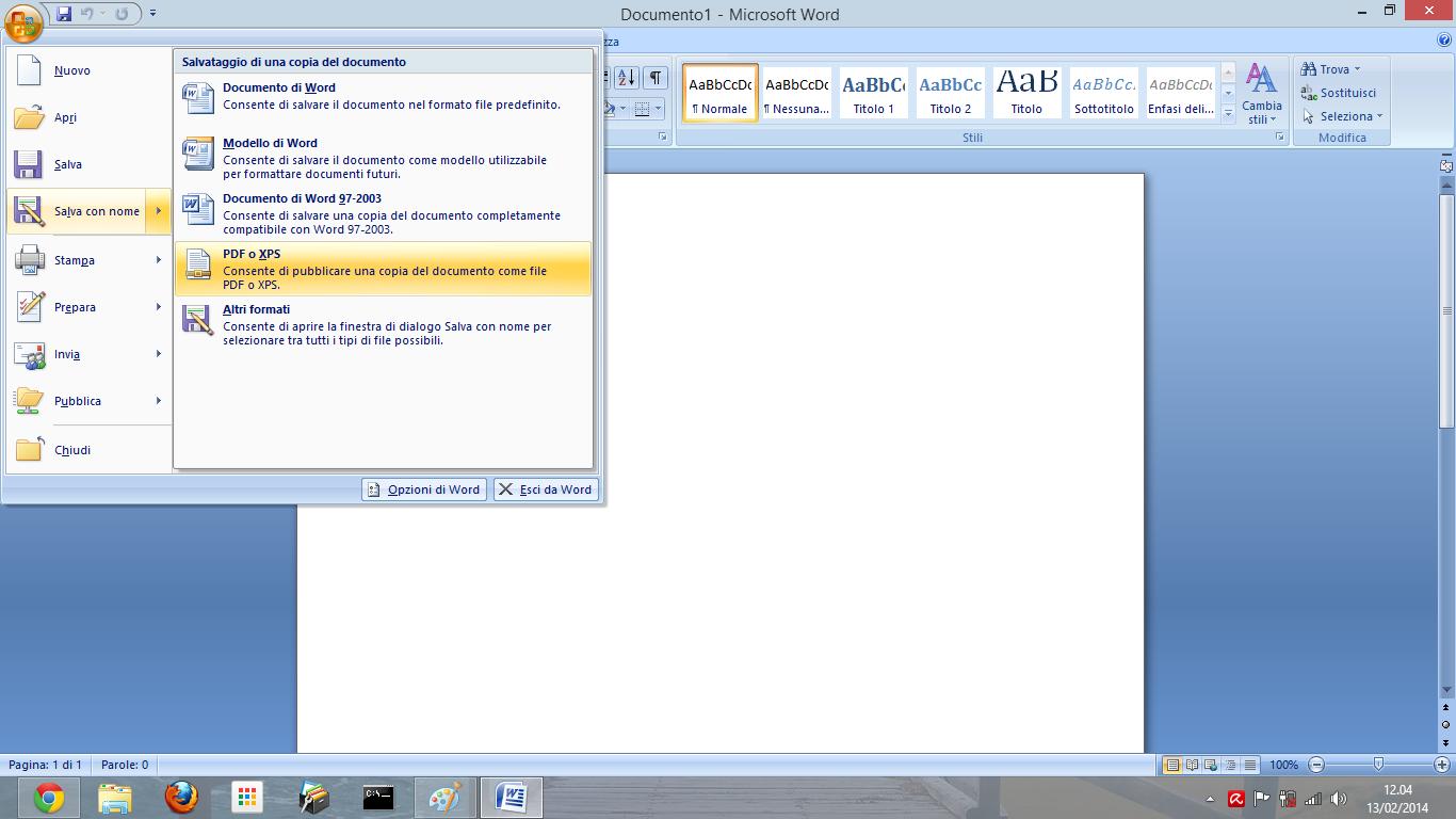 convertire doc word en pdf