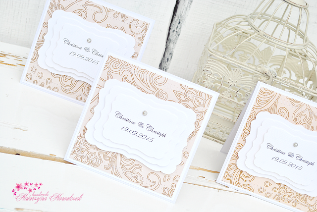 Zaproszenia Ślubne, elegant invitation wedding scrapbooking