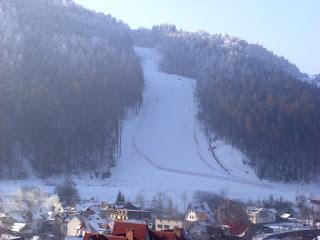 Szczawnica trasa narciarska zimą