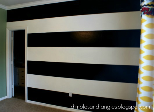 How I Painted A Perfectly Striped Wall
