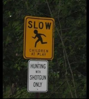 slow children hunting with shotgun funny