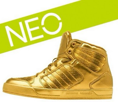 neo adidas golden sneakers