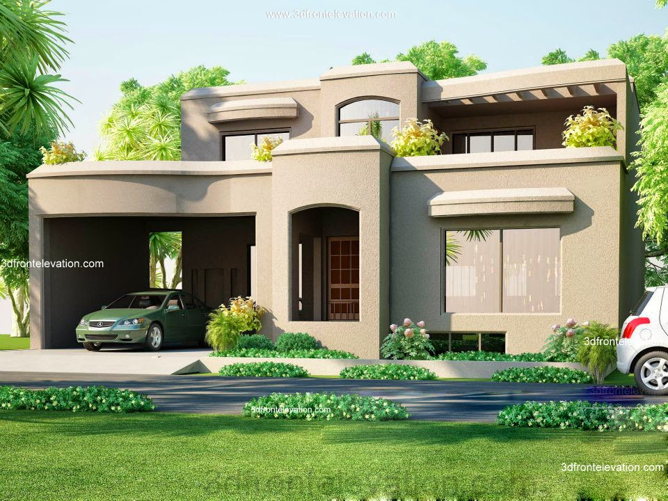Front Elevation Of 6 Marla Houses : D front elevation marla house plan