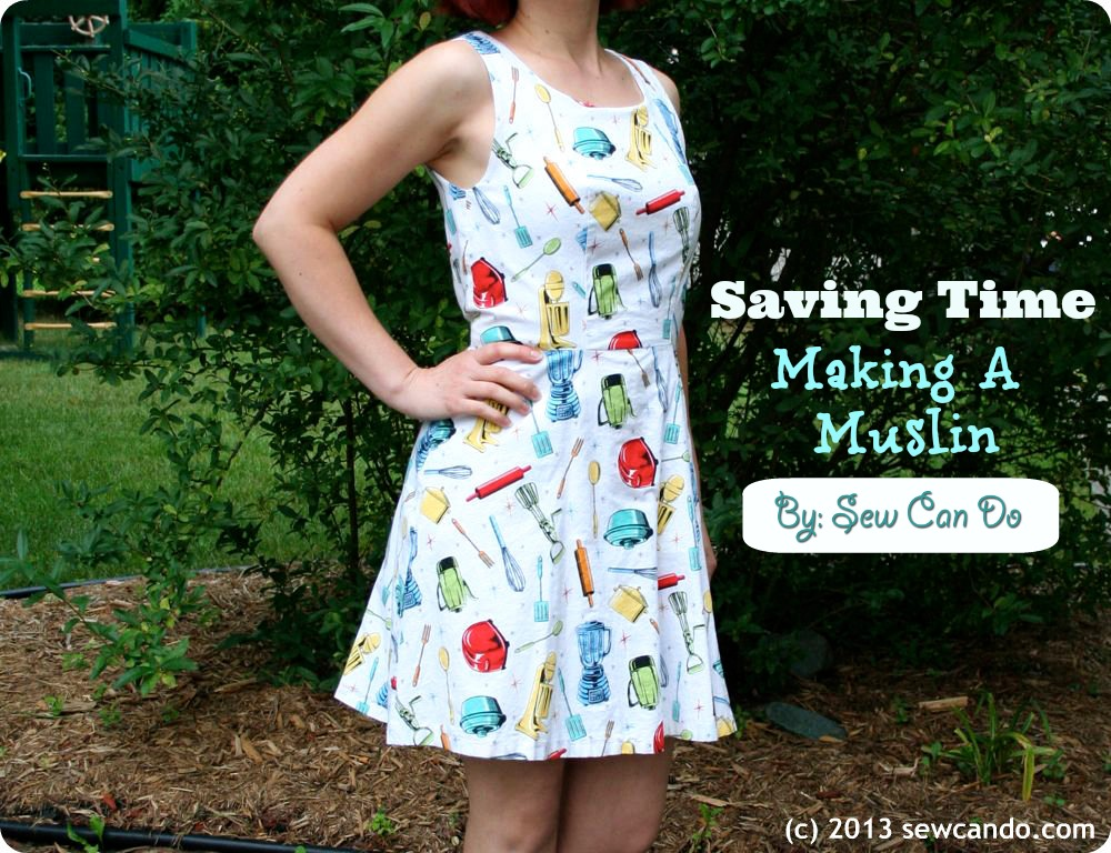 Sew Can Do: Dressmaking From A Free Dress Pattern & Saving On Muslin ...