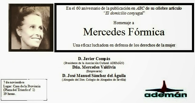 Homenaje a Mercedes Fórmica en Sevilla