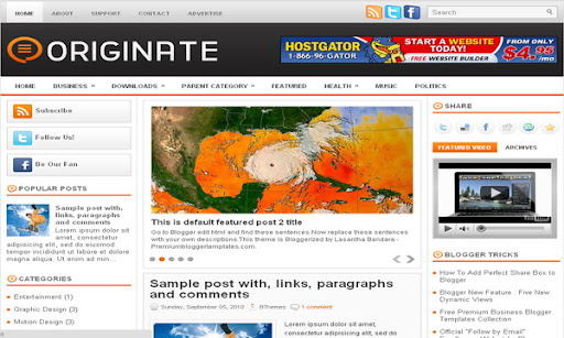 Originate Blogger Template