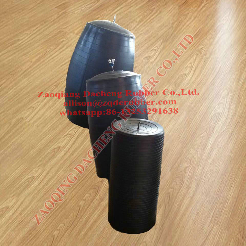 Inflatable pipe plug balloon type with high pressure