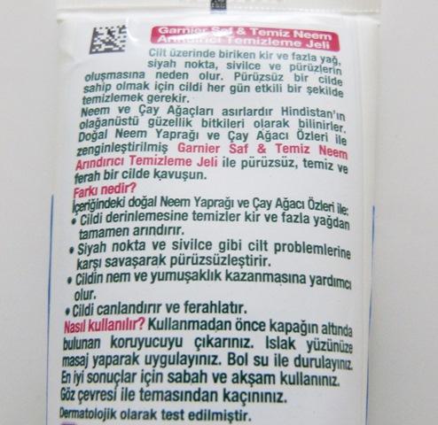 garnier neem temizleyici