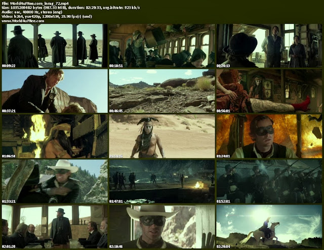 The lone ranger 720p BluRay 700mb