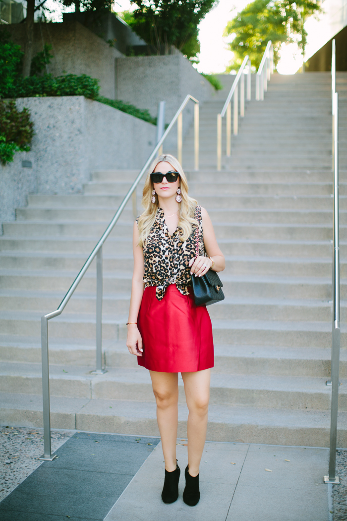 Kate Spade, Red, Silk, Bell, Zooey, Mini, Skirt, Leopard, Print, Sleeveless, Kiera, Equipment, Blouse, Top, Shirt, Suede, Black, Gold, Booties, Chanel, Jumbo, Caviar, Purse, Bag, Celine, Sunglasses, Vita Fede, Titan, Mini, Stone, Onyx, Gold, Bracelet, Spike, Bangle, Ily Couture, Crystal, Botanica, Dangly, Earrings, Fall, Holidays, Christmas, Red, Shanghai, Collection, Fall Separates, Caitlin Lindquist, A Little Dash of Darling, Scottsdale, Phoenix, Arizona, Blog, Fashion, Blogger, Lifestyle, Beauty, Travel, Hawaii, Waikiki, Oahu, Surfing, Lesson, Street Style, Personal Style,