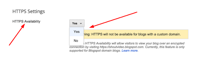 How To Enable HTTPS For Your BlogSpot Blogger Blog
