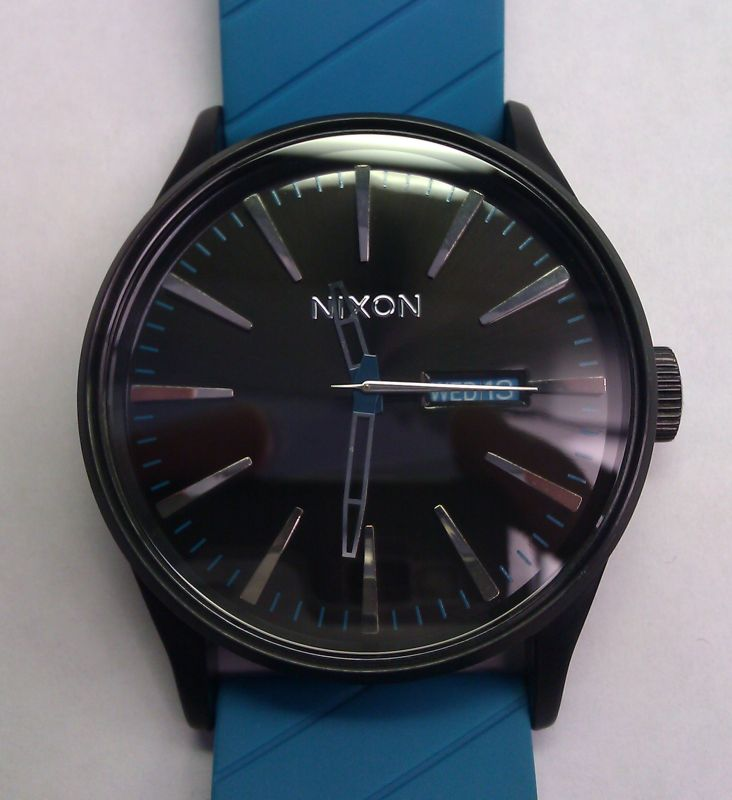 Nixon Sentry Sky Blue and Black