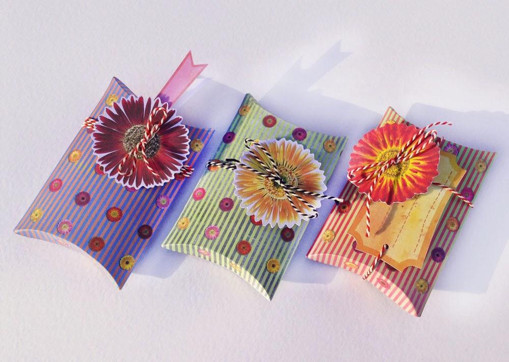 Kissenboxen mit Blumen bei Dawanda