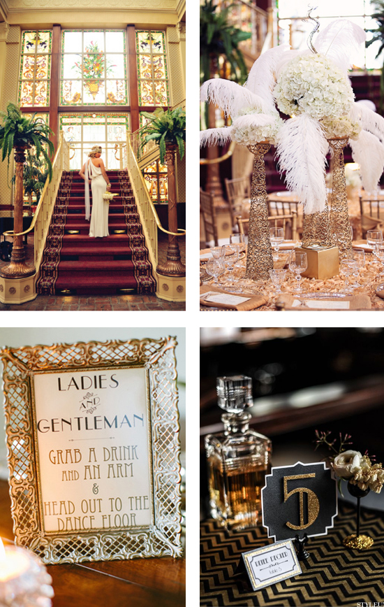 A Great Gatsby Themed Wedding The Party Of The Year