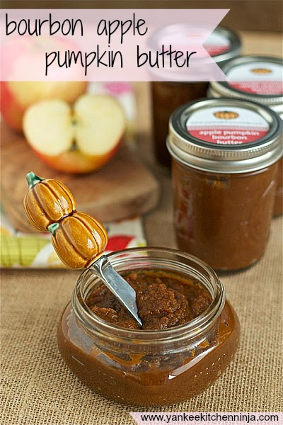 easy bourbon apple pumpkin butter, made in the crockpot