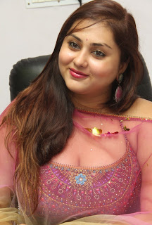 Actress Namitha Latest Pictures in Salwar Kameez at KSK Technologies Launch  016