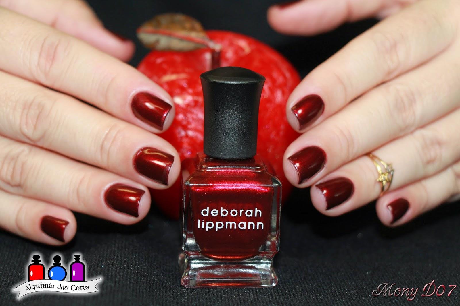 Deborah Lippmann, Through the Fire, Vermelho, vinho, metálico, Simone D07, Mony D07