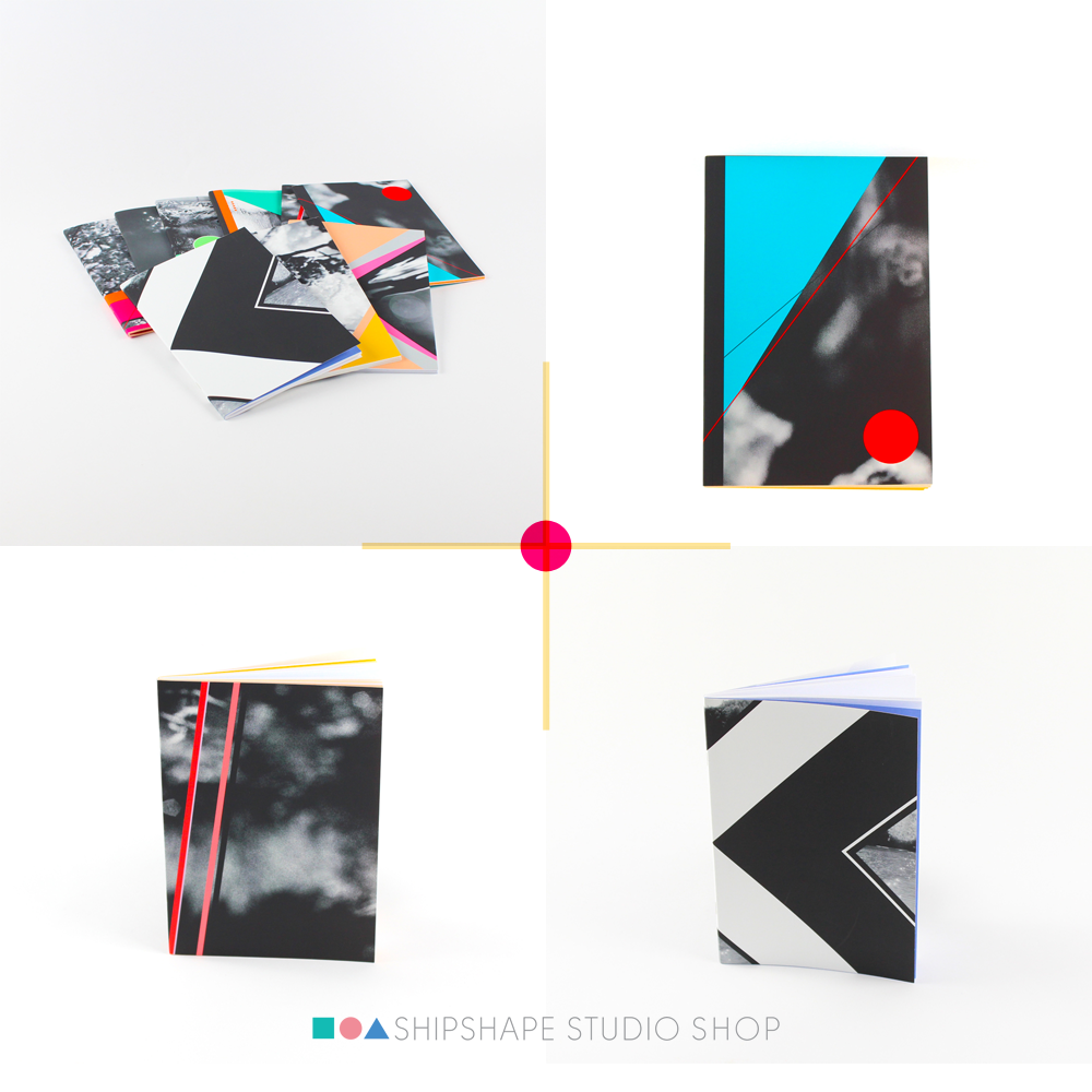 Geometric notebooks in the Shipshape Studio shop