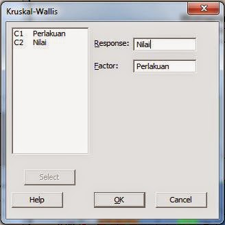 Kruskall Wallis Minitab