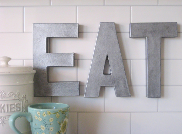 Decorative letters driven by decor for Kitchen letters decoration