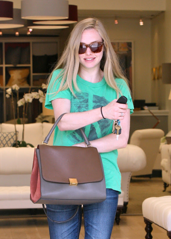 Amanda Seyfried leaving a furniture store in LA
