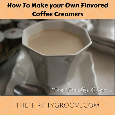 Need a treat without spending a fortune? Make your own flavored creamers and save the crazy prices you would normally spend at a specialty coffee shop! Recipes included