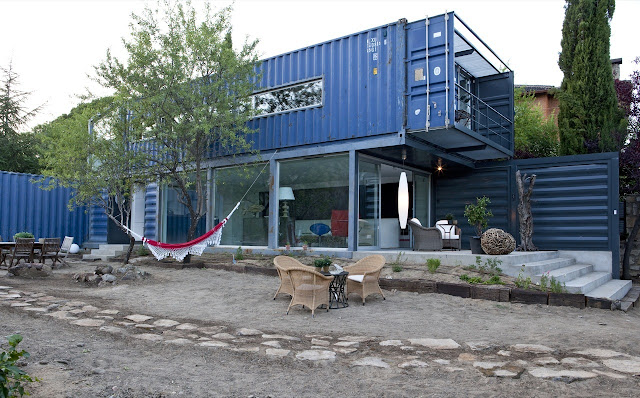Shipping container homes two story container house in el tiemblo - Two story shipping container homes ...