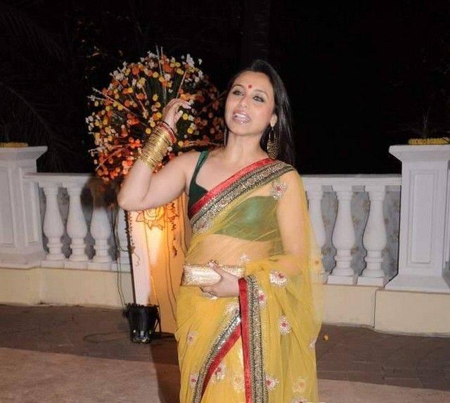Confirm. Rani mukherjee hot transparent saree simply magnificent