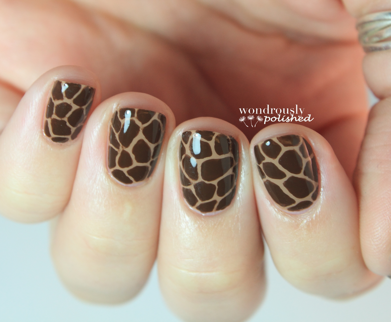 Wondrously Polished 31 Day Nail Art Challenge Day 13 Animal Print