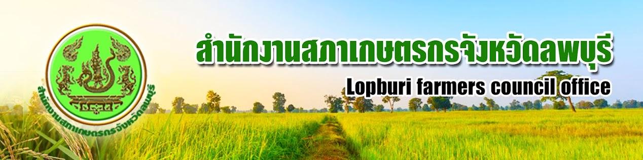 สำนักงานสภาเกษตรกรจังหวัดลพบุรี