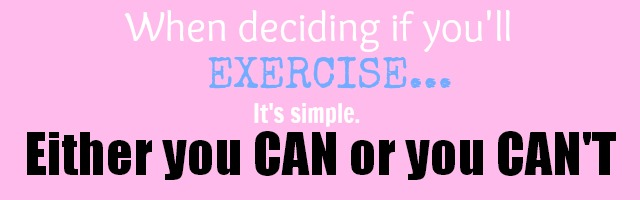 best excuses for not exercising, reasons people quit exercise