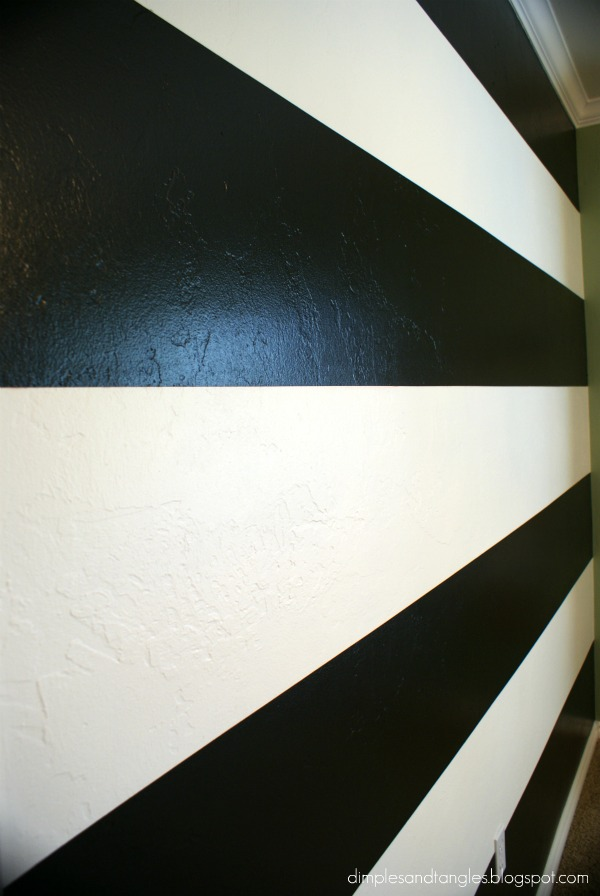 How I Painted a Perfectly Striped Wall Tutorial Dimples and Tangles