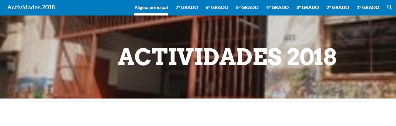 ACTIVIDADES 2018- CLIC AQUÍ