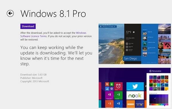 تحميل أو ترقية نظام ويندوز Download Windows 8.1 النسخة النهائية ومميزاتها