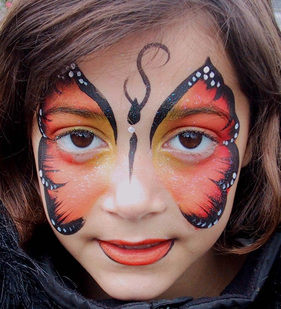 The Best Butterfly Face Body PaintingSimple Butterfly Face Paint