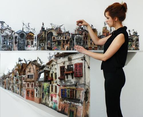 00-Katarina-Pridavkova-Fantasy-Architecture-in-Plaster-and-Clay-Town-www-designstack-co