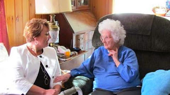 Patty Ritchie Visits Centarian Keitha Woodall of Gouverneur