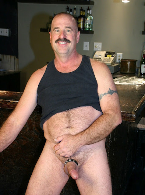 Clint+Taylor01 Chubby Hairy Guy in Cockring and Cum