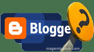 Логотип Blogger и знак вопроса