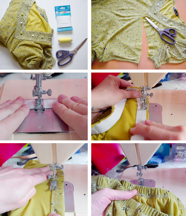 How to make a maxi skirt from old dress. Upcycling tutorial created by Xenia Kuhn for lifestyle blog www.fashionrolla.com