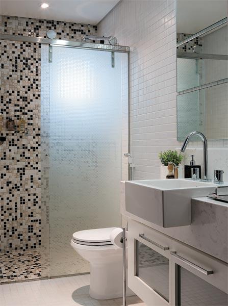 DECORAÇÃO SIMPLES PARA BANHEIROS PEQUENOS  DICAS, FOTOS -> Banheiros Simples Pintados