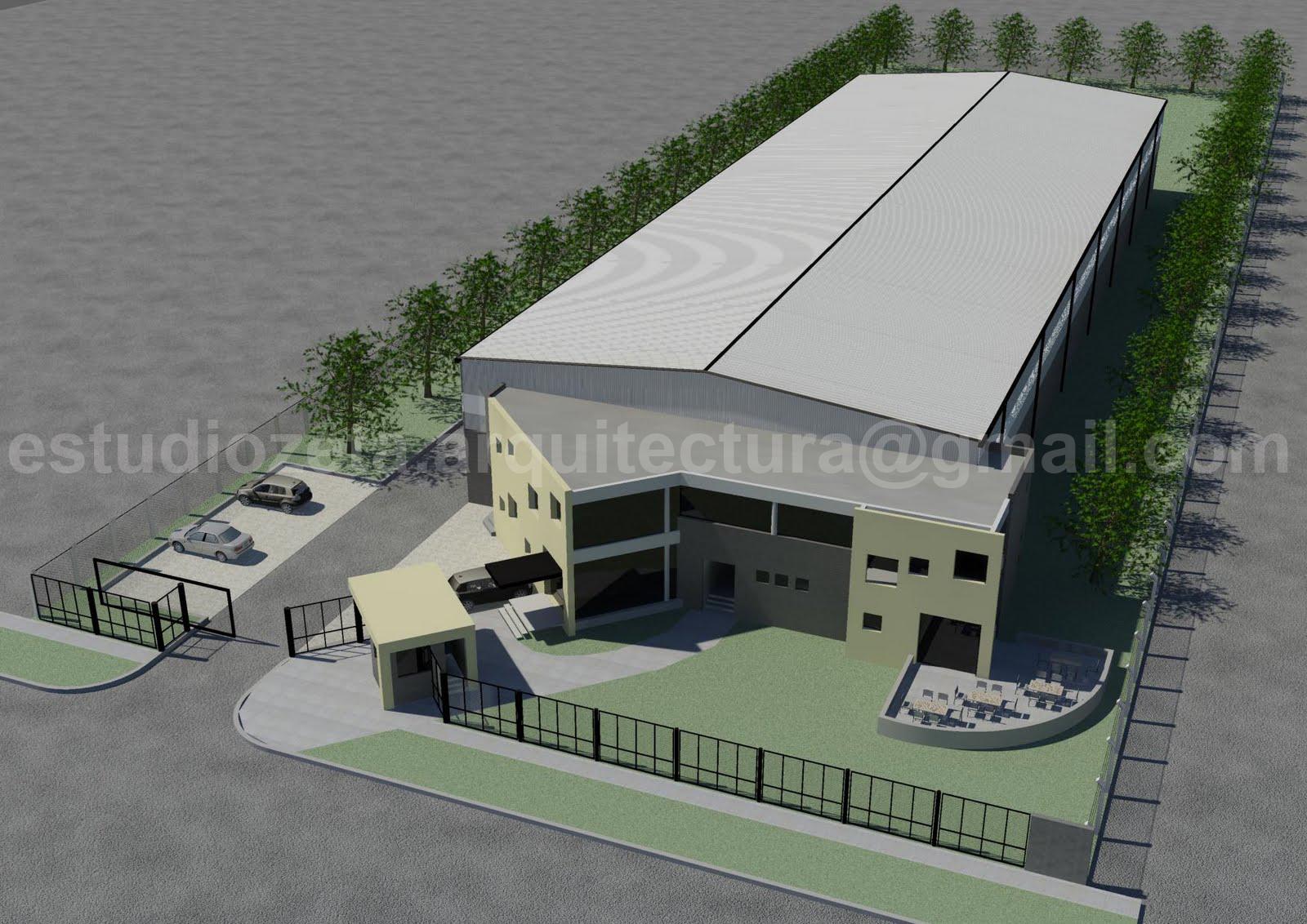 Dz l nz arquitectos nave industrial oficinas parque - Imagenes de fachadas de empresas ...