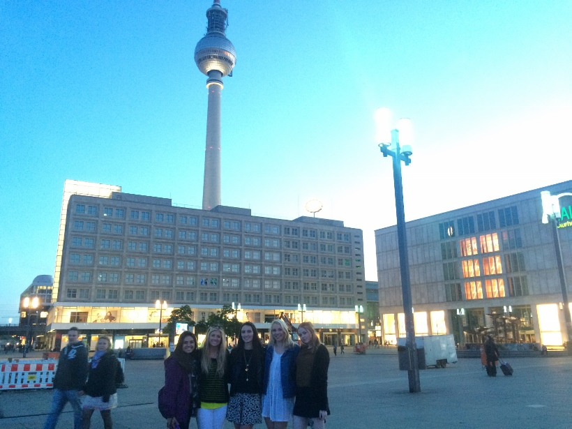 Alexanderplatz at night