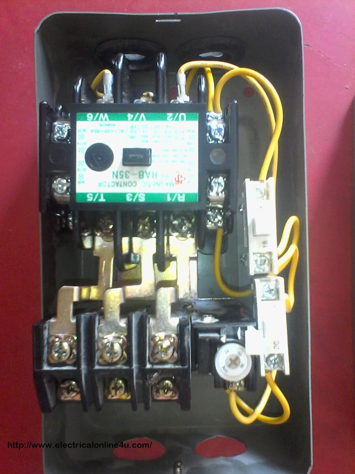 contactor%2Bwiring how to wire contactor and overload relay contactor wiring 3 phase contactor with overload wiring diagram at suagrazia.org
