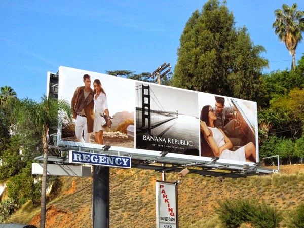 Banana Republic True Outfitters Golden Gate Bridge billboard