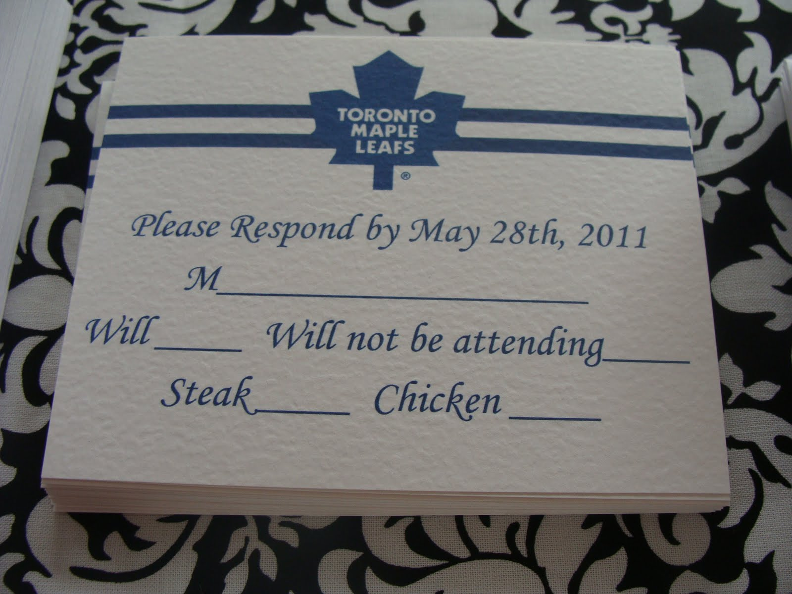 Toronto Maple Leafs Themed Wedding! | Paper Romance Wedding ...
