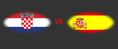 Kroasia VS Spanyol, Croatia VS Spain
