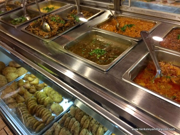 buffet at Rajbhog Indian restaurant in Jackson Heights, Queens, NY