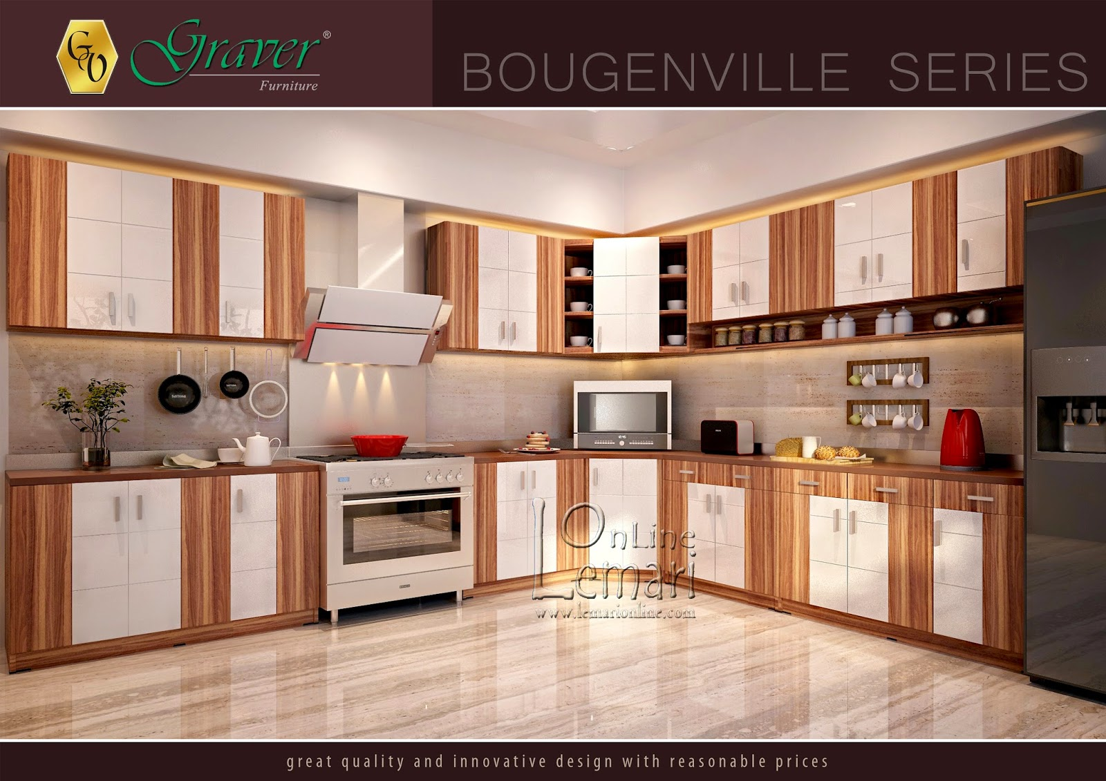 Keindahan rumah terletak pada dapur yang nyaman